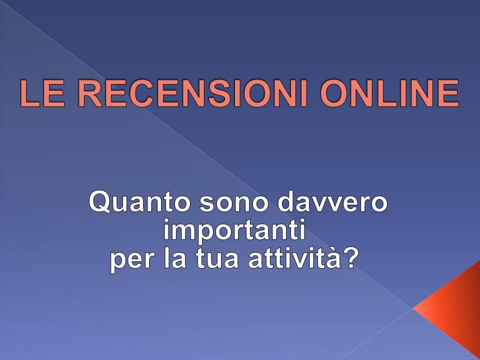 importanza recensioni online